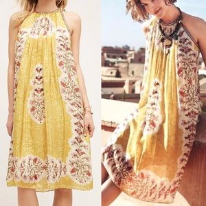 Anthropologie Soleil swing dress Bahnuni XS boho